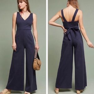 Anthropologie Navy Chino Jumpsuit | Size 0